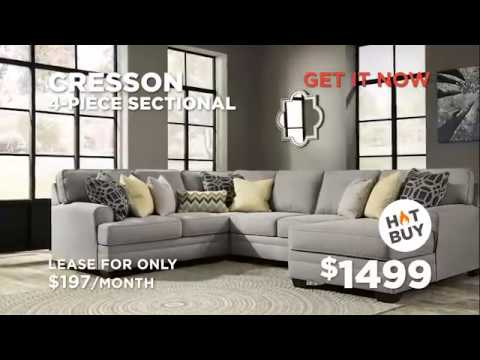 Brindon sofa & Cresson 4 piece sectional