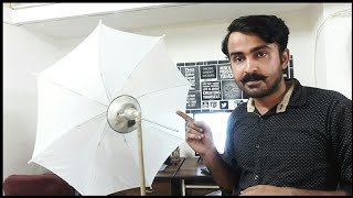 my homemade diy lighting setup for youtube videos || cheap studio umbrella lighting