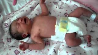 Newborn Baby Girl Crying