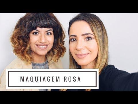 Tutorial maquiagem rosa | Millennial Pink