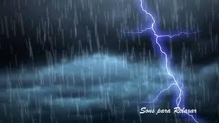 Som Barulho de Chuva para dormir Tranquilamente com Trovões Leves | ASMR10 HORAS