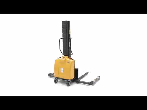 Narrow Mast Semi-Electric Stackers with Powered Lift SLNM-15-63-AA