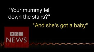 Listen to 3 year old's emergency call after pregnant mum falls down stairs - BBC News width=