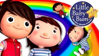 Rainbow Colors Song | Learn Colors of The Rainbow Song | Nursery Rhymes | by LittleBabyBum!