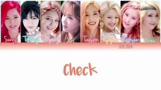 GIRLS' GENERATION (소녀시대) SNSD – CHECK Lyrics Color Coded [Eng/Han/Rom]