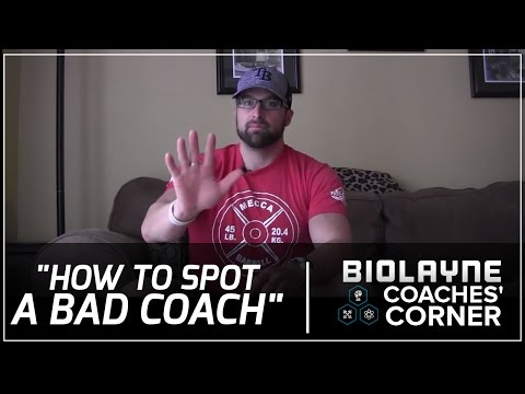 Coaches Corner   How to Spot a Terrible Coach