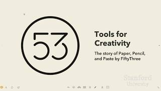 Tools for Creativity
