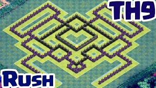 TH9 Rush or War base - Clash of Clans
