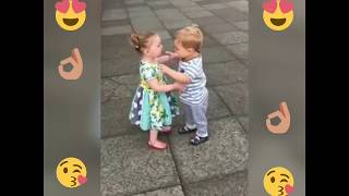 new- How sweet -  Cute baby couples kissing and dancing  baby kiss , sweet kiss