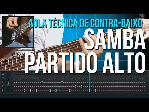 Como Tocar Samba Partido Alto ( aula técnica de contra-baixo)