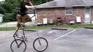 Matthew Rides the Scariest Tall Bike Ever!!! Must See!!
