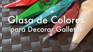 Glasa de Colores para Decorar Galletas - Glasa Real