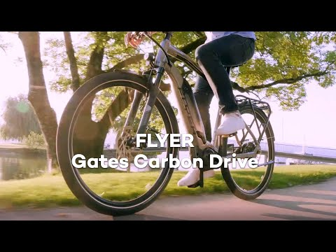 FLYER e-bikes with Gates Carbon Drive