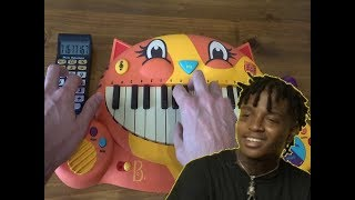 Ski Mask The Slump God - BabyWipe ON A CAT PIANO AND A DRUM CALCULATOR