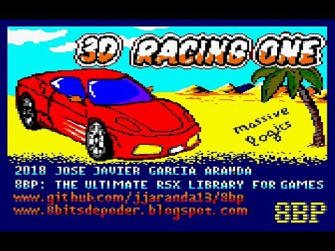 """Nuevo juego """"3D racing one"""" creado con  8BP v32"""