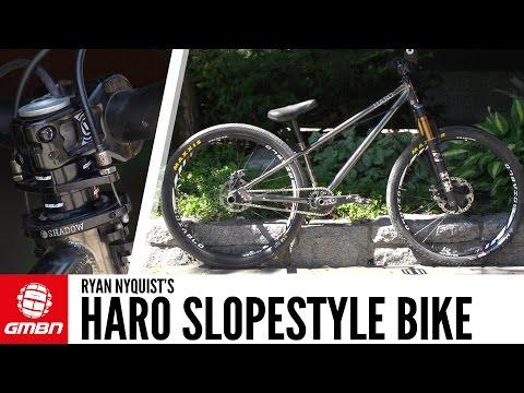 Ryan Nyquist's Haro Hardtail Slopestyle Bike | GMBN Pro Bike