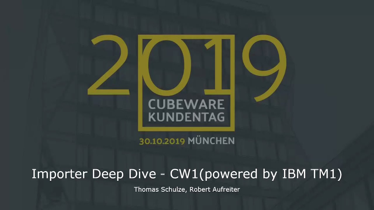 Importer deep dive CW1 by IBM