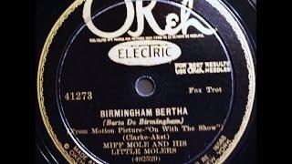 Miff Mole and His Little Molers: Birmingham Bertha 1929