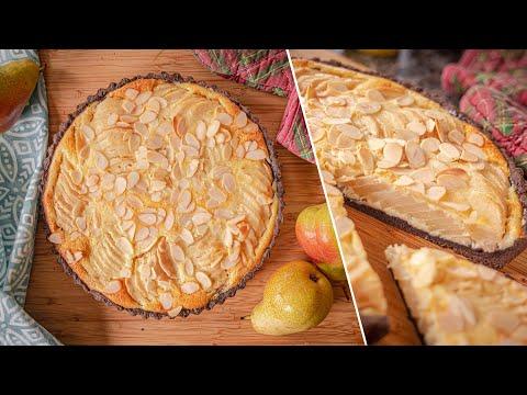 Очень вкусный ЗАЛИВНОЙ ПИРОГ С ГРУШАМИ | как приготовить грушевый тарт  | простой рецепт