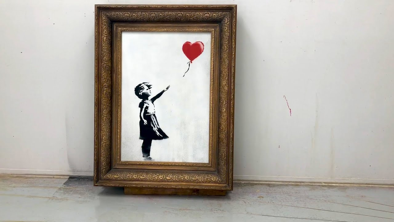 Banksy's Secret Video Reveals How 'Girl With Balloon' Shredding Should Have Worked