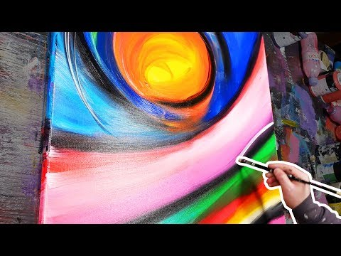 HOW TO paint ABSTRACT ART with acrylic paint | The Dance