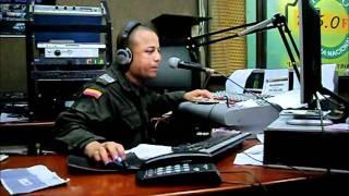 Omar Two Face en la Radio Policia Nacional de Cartagena
