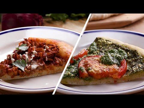 Vegan Pizza 2 Ways: Pesto Pizza And Jackfruit Pizza ? Tasty