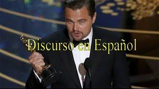 Discurso Leonardo DiCaprio Oscars 2016