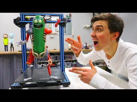 NEW 3D Printed Pickle Rick - Painted Rat Suit