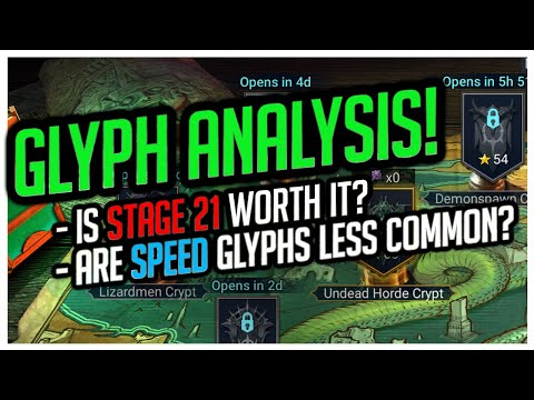 RAID Shadow Legends | GLYPH ANALYSIS! | Are SPEED Glyphs less common?!