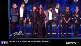 The Voice 5   Slimane, grand favori, remporte l'émission Vidéo   Video Dailymotion