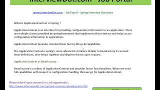 what is bean factory java spring interview questions interviewdot