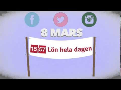 Delta i manifestation för #lönheladagen 8 mars!