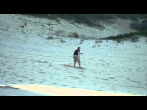Sand boarding in Port Alfred (South Africa)
