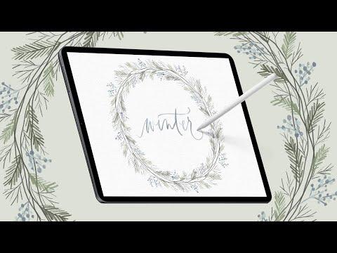 Paint a Winter Watercolor Wreath in Procreate