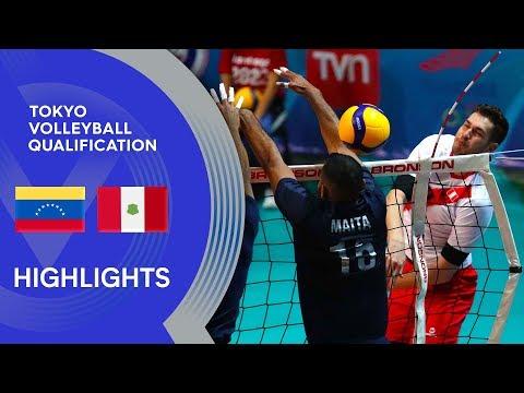 Venezuela vs. Peru - Highlights | CSV Men's Tokyo Volleyball Qualification 2020