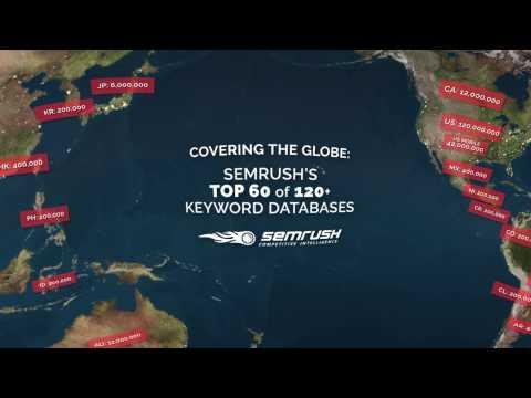 SEMrush: Top 60 of 120+ Keyword Databases (360 VR Interactive Video)