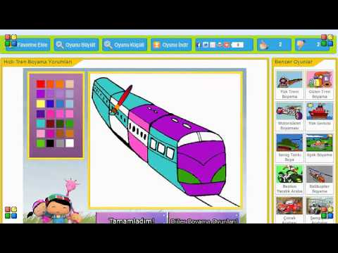 Hızlı Tren Boyama Oyunu