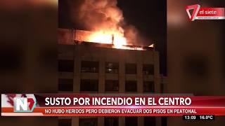 Susto por un incendio en el centro