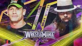 WWE Wrestlemania 30 Bray Wyatt vs John Cena Match Card