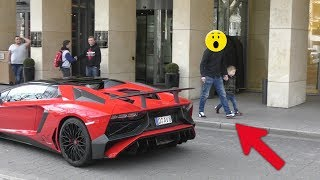 Lamborghini Aventador SV Roadster - People Reactions in Düsseldorf!