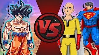 GOKU vs SAITAMA vs SUPERMAN Animation (Dragon Ball Super Fan Animation)