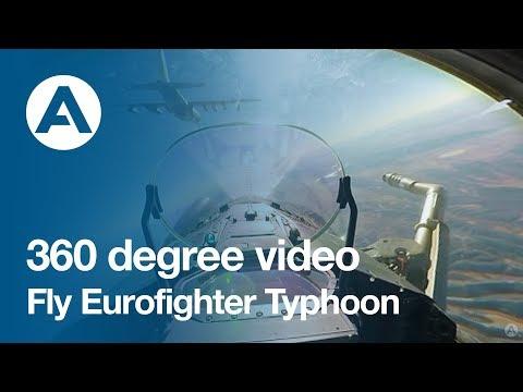 360 degree video: Fly Eurofighter Typhoon!