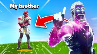 So I found my brother In Fortnite and then this happened