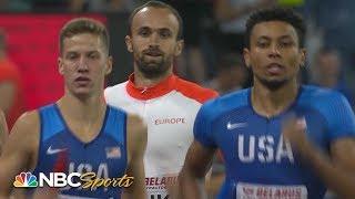 Allyson Felix runs 400m leg in heartstopping mixed medley relay | NBC Sports