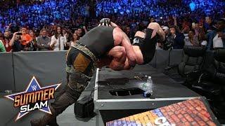 Braun Strowman manhandles Brock Lesnar in unprecedented fashion: SummerSlam 2017 (WWE Network)