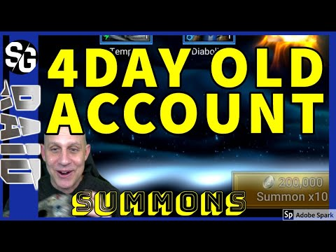 RAID SHADOW LEGENDS | 4DAY OLD ACCOUNT | LEGO SUMMONS | UNKNOWN GAMBLER