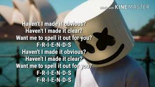 Marshmello & Anne Marrie - Friends (Lyrics)