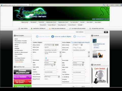 GameEkstra Kayıt ve Sipariş sistemi