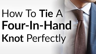 Easily Tie Four-In-Hand Necktie Knot | Perfectly Tie A Tie | Four In Hand